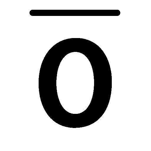 overline text